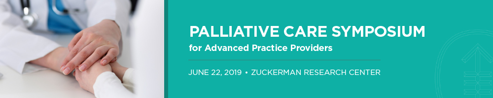 Palliative Care Symposium for Advanced Practice Providers Banner