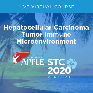 MSK in collaboration with University of Hawaii Cancer Center present APPLE's Single Topic Conference: Hepatocellular Carcinoma Tumor Immune Microenvironment Banner