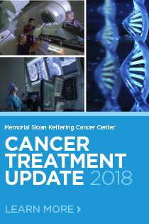 Memorial Sloan Kettering Cancer Center: Cancer Treatment Update 2018 Banner
