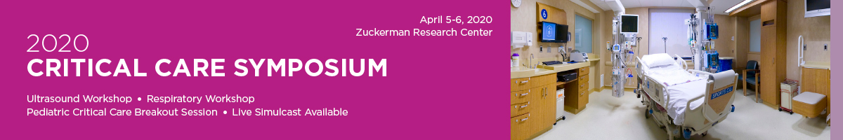 2020 Critical Care Symposium Banner