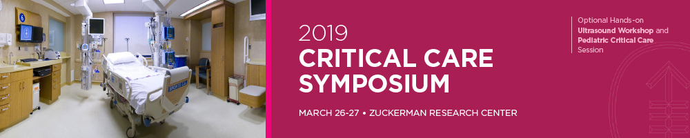 2019 Critical Care Symposium Banner