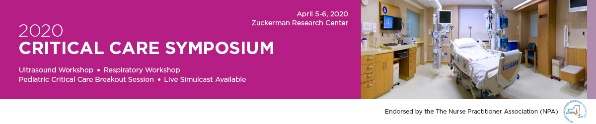 CANCELED - 2020 Critical Care Symposium Banner