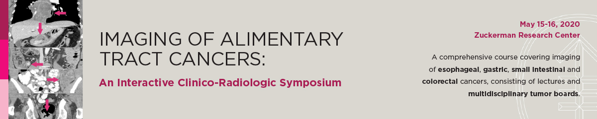 Imaging of Alimentary Tract Cancers: An Interactive Clinico-Radiologic Symposium Banner