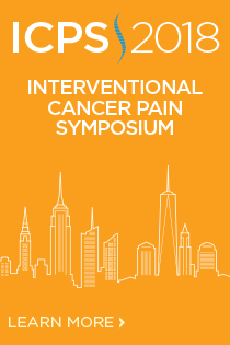 Interventional Cancer Pain Symposium 2018: Technical Workshop in Advanced Therapies Banner
