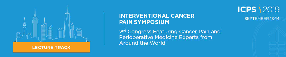 MSK's 2nd Congress - Interventional Cancer Pain Symposium 2019 (Lecture Track) Banner