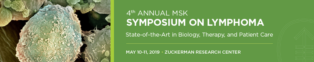 4th Annual MSK Symposium on Lymphoma Banner