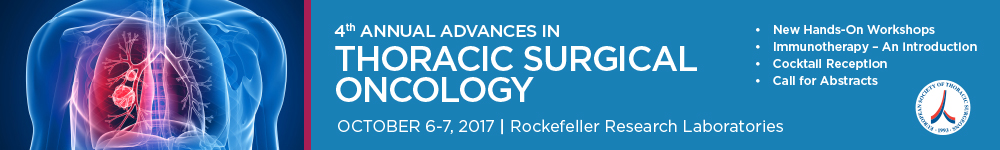 4th Annual Advances in Thoracic Surgical Oncology Banner