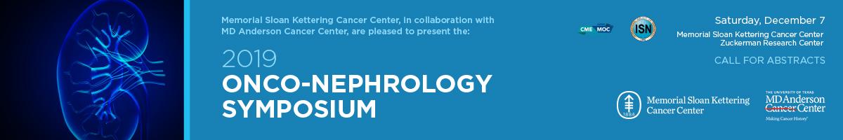 2019 Onco-Nephrology Symposium Banner
