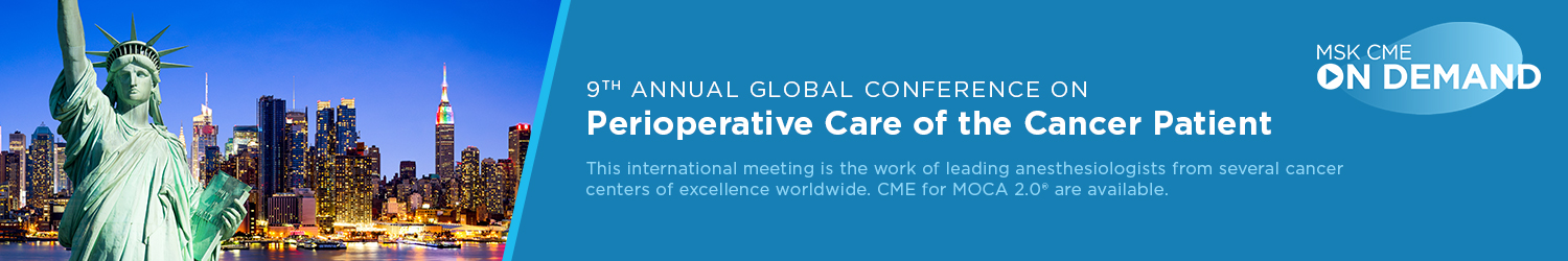 9th Annual Global Conference on Perioperative Care of the Cancer Patient - On Demand Banner
