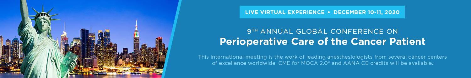 LIVE VIRTUAL: 9th Annual Global Conference on Perioperative Care of the Cancer Patient Banner