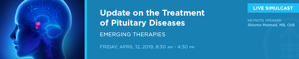 LIVE SIMULCAST: Update on the Treatment of Pituitary Diseases: Emerging Therapies Banner