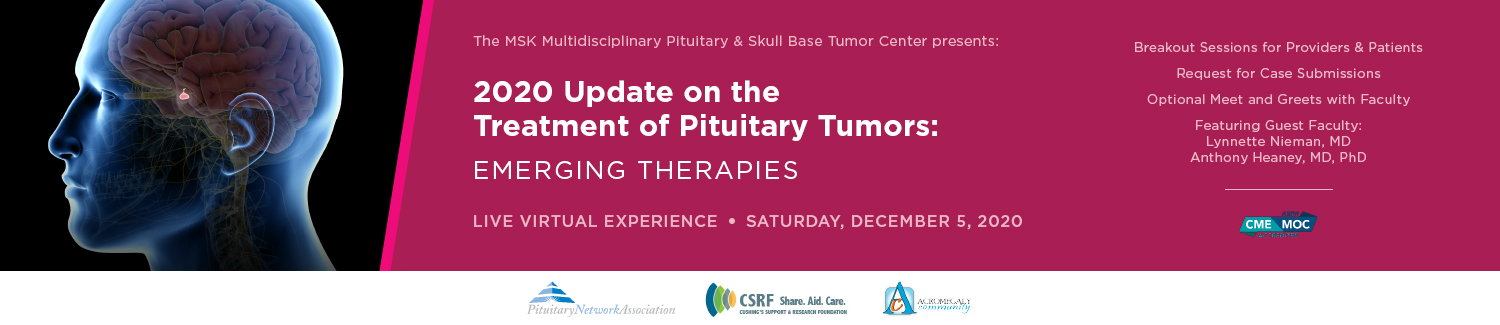 2020 Update on the Treatment of Pituitary Tumors: Emerging Therapies Banner