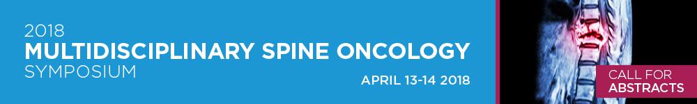 2018 Multidisciplinary Spine Oncology Symposium Banner