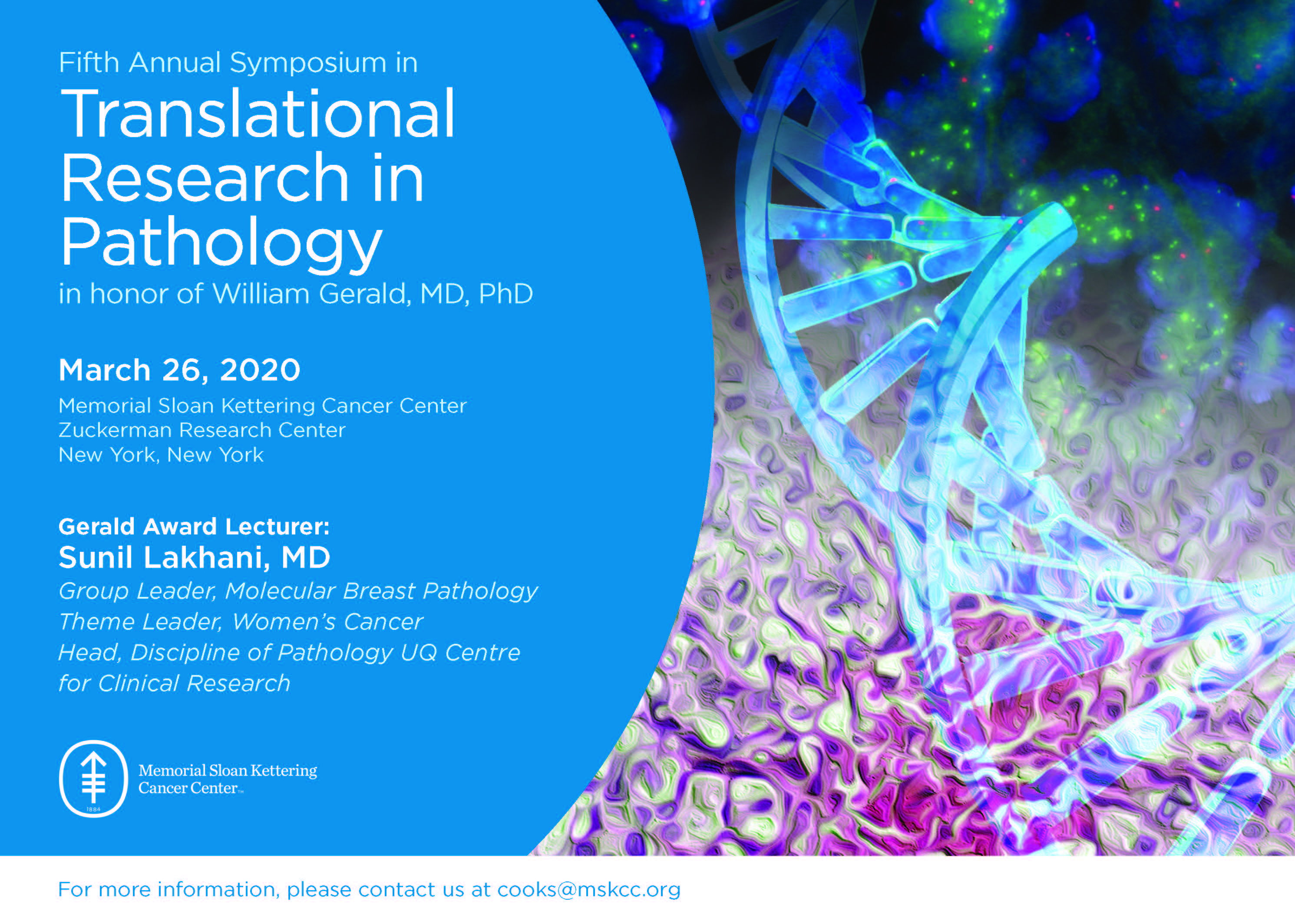 The 5th Annual Symposium in Translational Research in Pathology Banner
