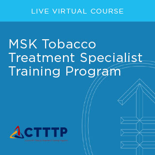 MSK Tobacco Treatment Specialist Training Program - Fall 2020 Banner