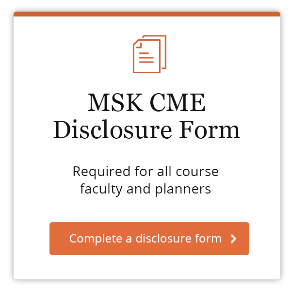 MSK CME Disclosure Form