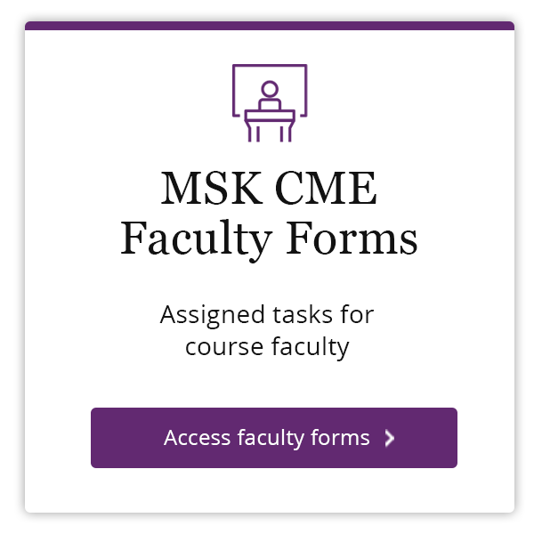 MSK CME Faculty Forms